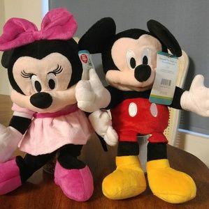 Mickey & Minnie hand puppets